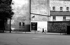 Along falcas (pascalcolin1) Tags: blackandwhite woman paris noiretblanc faades femme garedelest figurine streetview photoderue urbanarte falcas photopascalcolin