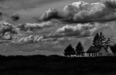 Verlassen ... (Wunderlich, Olga) Tags: nature landscape natur himmel wolken insel rgen landschaft deu baracken greifswalderbodden