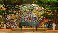 Colores (bladek1016) Tags: colors wall bench travels mural paint venezuela banco colores viajes coro pintua