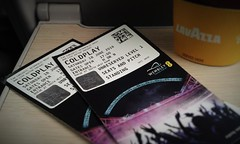 Coldplay Tickets... (phil_king) Tags: uk england music london rock train tickets concert coldplay stadium band wembley