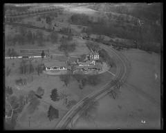 Belmont Mansion, Fairmount Park, Philadelphia. (Library Company of Philadelphia) Tags: aerialphotography mansions fairmountpark librarycompanyofphiladelphia