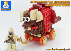 BANTHA ROULETTE (baronsat) Tags: toy star lego mini wars bantha