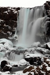 Waterfall at ingvellir, Iceland (sophieatkinson) Tags: winter ice waterfall iceland falls thingvellir ingvellir xarrfoss