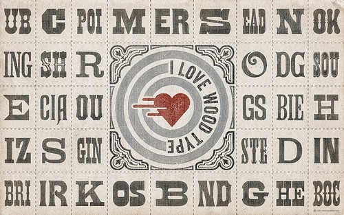 SPECIMEN WALLPAPER »I ❤ Wood Type« (for widescreen displays) / arnoKath