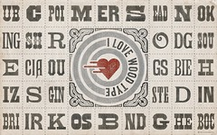 SPECIMEN WALLPAPER »I ❤ Wood Type« (for widescreen displays)