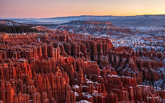 sandstone kingdom ([Adam Baker]) Tags: park morning autumn snow sunrise canon point landscape utah nation brycecanyon hoodo 24105l adambaker 5dmkii