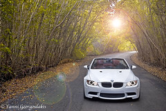 M3 in a Tree Tunnel (Yankis) Tags: auto red sun white tree car leather angel lens eyes nikon european photographer ride florida miami euro top south over performance hard convertible tunnel automotive drop vert m german fox flare whip bmw mineral mm coil aggressive m3 trop f28 lowered dropped d3 beemer coilovers yanni bimmer mw 2470mm 2470 e93 georgoulakis
