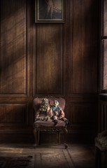 The creepy toys : (andre govia.) Tags: light house building abandoned window toy lost toys chair dolls decay andre creepy dust manor govia