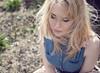 Fast forward (Hazelaine) Tags: portrait girl vintage hair 50mm dress sony windswept denim f18 a200 swishy