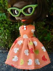 Coral Roses Dress for Blythe