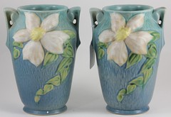 59. Pair of Roseville Magnolia Vases