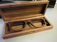 Handmade Wooden Glasses and Wooden Box (akki14) Tags: london lhs hackspace