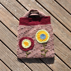 Crochet: Autumn Poppys Handbag (back) (Kiwi Little Things) Tags: handmade crochet purse handbag poppys