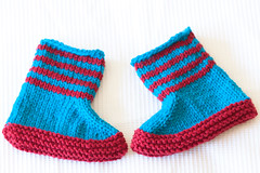 Lovebug Booties (scatterpig) Tags: knitting babybooties handknitbabyclothes fos2012 lovebugbooties