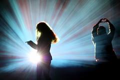 beam me ... (cc) (marfis75) Tags: blue light silhouette sign by lampe licht solar dance flickr ray heart frankfurt creative commons scan beam cc shade tanz laser blau frau schatten herz zwei figur tanzen personen frauen quelle strahl strahlen luminale marfis75 abtasten main2012 luminale12