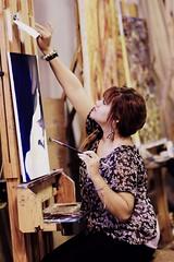Expresionism (Oleo fotografia) Tags: girl painting student sara artist leah canvas oil expressionism pinturas artista oleo linseed