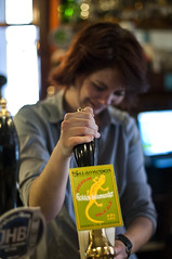 barmaid_JWA5361 (jonwaz) Tags: england beer pub drink sheffield yorkshire drinking ale thirsty bitter paleale publichouse jonwaz