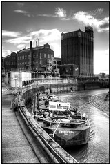 River Hull HDR (S Cansfield) Tags: white black river boat nikon