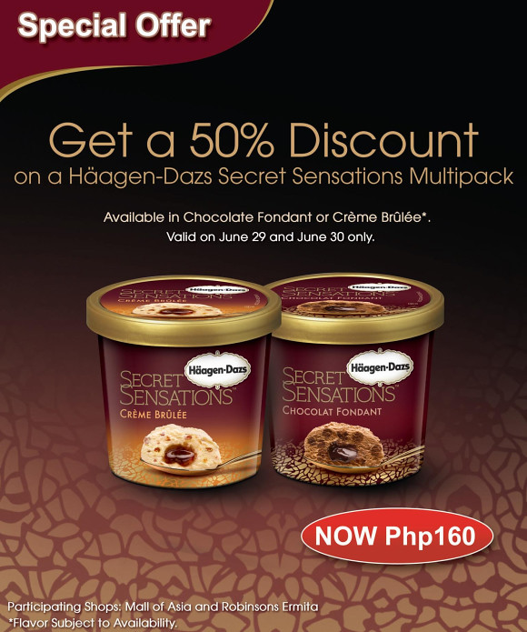 Haagen-Dazs special offer til June 30th only on their Secret Sensations Multipack