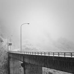 bridge in snow, Gifu (StephenCairns) Tags: bridge winter blackandwhite bw storm japan canon snowstorm 山 gifu 雪 冬 ono 橋 motosu 岐阜県 3月 stephencairns 揖斐川町 canon5dmarkii ibigawacho