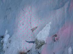 Fog (catheadsix) Tags: street pink fog grey walk polkadots torn