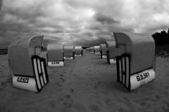 Baabe (mattrkeyworth) Tags: sea germany island deutschland meer fisheye insel rgen ostsee strandkorb fisheyelens mecklenburgvorpommern strandkrbe baabe beachbasket ostseekste fischauge ostseeinsel sal16f28 mattrkeyworth