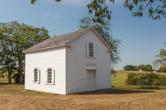 Hauge Log Church - Exterior and Entrance (bo mackison) Tags: windows wisconsin historicchurch nationalregisterofhistoricplaces driftlessregion canon5dmarkii exteriorofchurch whitecountrychurch haugelogchurch daleysville southewesternwisconsin