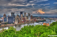 Twilight Approaches (Bill Maksim Photography) Tags: ohio field st photography washington big goal downtown pittsburgh view place ben fort steel side line mount marys ward superbowl pitt usx ppg finder heinz steelers hdr allegheny 2012 mendenhall maksim roethlisberger 2013 mongohelea