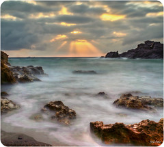 Sun VS Clouds (Legi.) Tags: sea sky costa sun seascape sol clouds sunrise cabo nikon long exposure amanecer cielo nubes 1855 palos larga exposición colorphotoaward d5100
