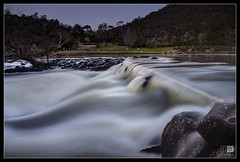 Cataract Gorge in Flood (darreng2011) Tags: longexposure water flow lowlight rocks stream flood tasmania launceston cataractgorge ringexcellence