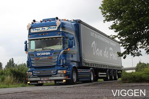 Tidlosa Kok I Sverige Ab : Van De Poel  Belgium  Scania R730 V8 Topline vs R440