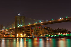 Brooklyn Bridge, New York City. (RobNYCity) Tags: new york city nyc newyorkcity bridge usa newyork news london apple brooklyn night river lights big downtown manhattan lowereastside july east clear walkway nightime southstreetseaport midnight brooklynbridge eastriver lower olympics today yankees mets lowermanhattan brooklynpromenade nycity thebigapple londonolympics flickraward