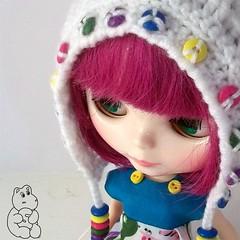 Rainbow Smarties Pixie Bonnet