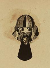 hermione/ HB J.K. Rowling (Anita Mejia) Tags: sepia illustration pen ink movie hp traditionalart harrypotter books fanart tribute hermione jkrowling chocolatita anitamejia