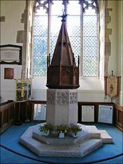 St Thomas & St Edmund, Salisbury (pefkosmad) Tags: baptism christening salisbury wiltshire stthomas 1220 stedmund doompainting wiltsweekend baptismalrolls fontandcover