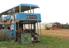 In a field of its own (Lady Wulfrun) Tags: blue bus broken johnson september combine 23 bros scrap johnsons 2009 wrecked nottinghamshire harvester 19th spares harvesttime dismantled notts combineharvester ecw johnsonbros bristolvr cluas hodthorpe lvl809v lincolnshireroadcarcompany
