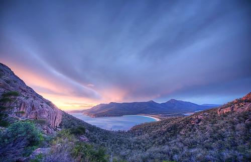 storm sunrise dawn bush nikon gums tasmania tasmansea australianlandscape hdr lanscape d800 mountamos nikkor1424mm lukezeme winelgassbay