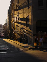 Up my alley   ~ * ~ Explored (08/16/2012) ~ * ~ (c. Melon Images) Tags: street city shadow summer sun philadelphia canon evening alley cityscape candid adventure explore pointandshoot philly 2012 explored