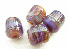 Electrical Storm (1) (Glittering Prize - Trudi) Tags: storm glass beads handmade barrel electrical lampwork artisan