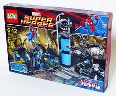 6873 Box Front (Oky - Space Ranger) Tags: lab iron lego ultimate anniversary review spiderman super fist heroes marvel doc academy universe ambush ock reviewers 6873 eurobricks