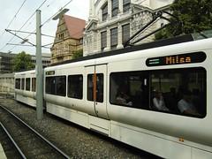Bielefeld - Stadtbahn - Baureihe GTZ8-B Vamos (IngolfBLN) Tags: deutschland tram lightrail streetcar vamos bielefeld mobiel fahrzeug pnv wagen stadtbahn vossloh stadtbahnwagen heiterblick strasennbahn gtz8b