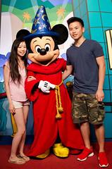 Gotta Have a Shot with Mickey Mouse (seango) Tags: park trip vacation asian mouse orlando florida disney mickey mascot disneyworld fantasia theme universal studios mgm kissimmee 2012 hollywoodstudios