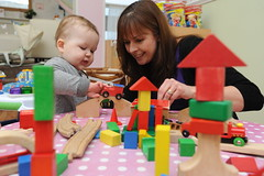Marina photo baby and blocks
