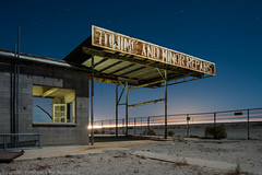 Towing and Minor Repairs (dejavue.us) Tags: california longexposure nightphotography lightpainting abandoned nikon desert gasstation fullmoon nikkor ocotillo d800 1835mmf3545d vle