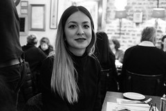 Dinner at Hafez (Gary Kinsman) Tags: portrait bw dinner pose restaurant blackwhite availablelight ambientlight posed portraiture w2 nottinghill hafez bayswater highiso 2016 herefordroad fujifilmx100t fujix100t