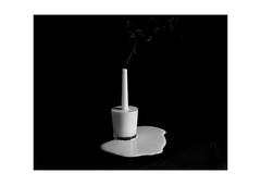 (Rhodri Brooks) Tags: sculpture glass wales milk candle smoke cardiff cream spill artphotography