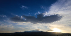 ETNA & the angelic cloud... (Alessandro Lo Piccolo Hollweger) Tags: sunset cloud angel landscape volcano crater sicily etna eruption