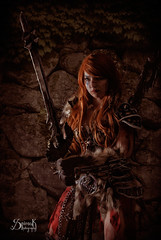 Barbara Aout as Female Barbarian from Diablo III by SpirosK photography (studio) (SpirosK photography) Tags: portrait composite female studio photoshoot cosplay athens greece videogame diablo barbarian videogamecharacter costumeplay diablo3   diabloiii femalebarbarian spiroskphotography barbaraaout