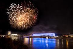 Danube in Flames (Kastner Peter) Tags: water skyline night canon linz austria sterreich europa europe long exposure time nacht outdoor himmel danube donau 6d langzeitbelichtung rummelplatz concordians