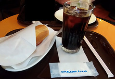 #8046 lunch: iced coffee and baguette sandwich (Nemo's great uncle) Tags: food lunch tokyo   kameido kotoku    excelsiorcaff